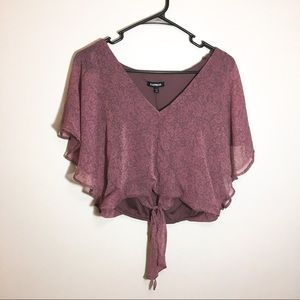 express pink purple crop top